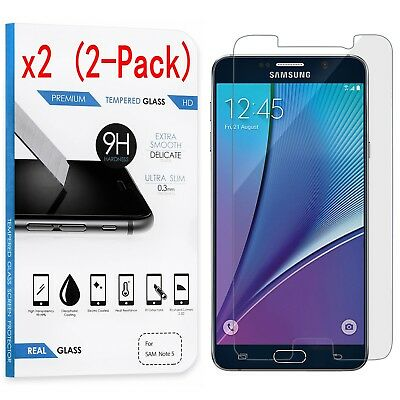 2-Pack Tempered Glass Screen Protector For Samsung Galaxy S5 S6 S7 Note 3 4 5