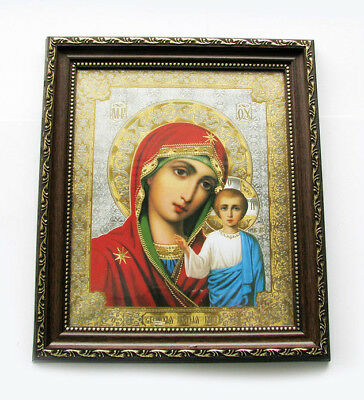 Madonna and Child Virgin of Kazan Orthodox Byzantine Icon Greek Art Lithography