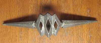 1 unique vintage aged brass plated KBC cabinet drawer pointy pull handle 2-1/2CC