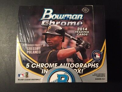 2014 Bowman Chrome Baseball Jumbo Hobby Box 5 Autos Try For Kris Bryant Auto