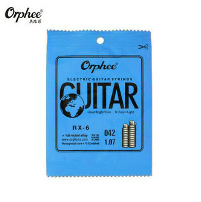 10pcs Orphee RX-6 Sixth E 6-th Nickel Electric Guitar Strings .042 inch/1.07 mm