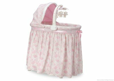 Simmons Kids Pink Gliding Bassinet by Simmons Kids Paisley