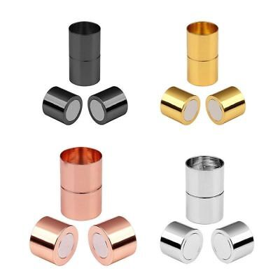 10pcs/lot Gold Magnetic Clasps Fit 3/4/5/6/7/8/10/12/15mm Leather Cord Connector