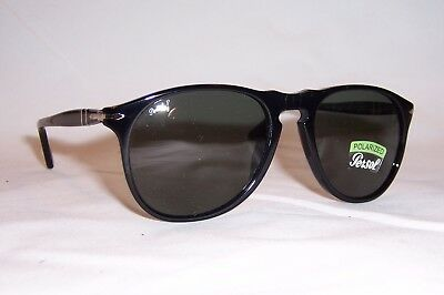 8eec7af171ccf NEW Persol Sunglasses PO 9649 S 95 58 BLACK GREEN POLARIZED 52mm AUTHENTIC