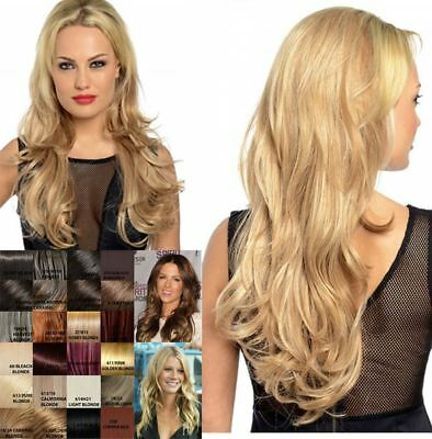 "Ladies 3/4 Long Wavy Synthetic Half Head Wig 28"" Length Clip In Koko Uk Emma"