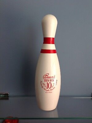 BEAM'S TEN PIN BOWLING PIN DECANTER (empty) VINTAGE