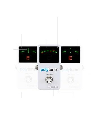 TC Electronic Polytune 3 Tuner and Buffer Guitar Pedal - Ships FREE U.S.