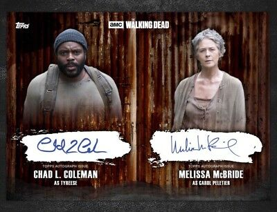 DUAL SIGNATURE BLACK CAROL / TYREESE The Walking Dead Card Trader Digital