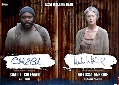 DUAL SIGNATURE BLUE CAROL / TYREESE The Walking Dead Card Trader Digital