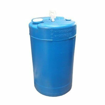 15 Gallon Closed-Head UN Rated Poly Drum with Screw Cap - Blue Drum