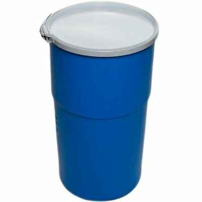 15 Gallon Open-Head UN Rated Poly Drum with Ring Lock Lid