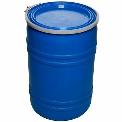 55 Gallon Open-Head UN Rated Poly Drum with Ring Lock Lid