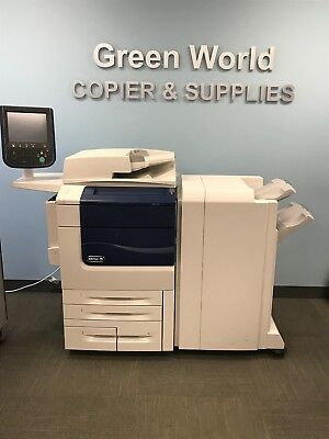 Xerox Color 550 with an Advanced Finisher,Bustle Fiery,700k Meter, Booklet Maker