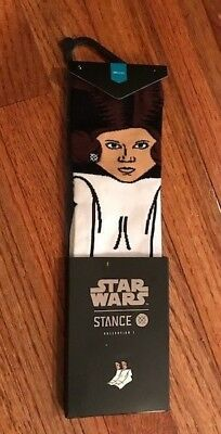 NWT Youth STANCE STAR WARS COLLECTION I Princess Leia Socks, Lg 2-5.5, $16, F/S