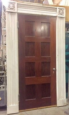 Mahogany Door  Vintage 1870's  8 panel with frame