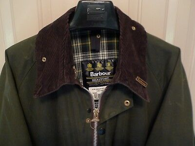 Barbour - A150 Beaufort Waxed Cotton Jacket-Sage-Made @ England-Size 48