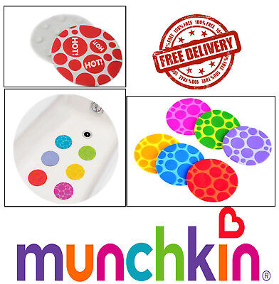 Baby Bath Non Slip Mats 6 Grippy Dots Munchkin Hot Detection Guard