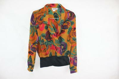 Vintage 80s Designer AVANT GARDE TRES BEAU Abstract NEW WAVE Crossover TOP S /10