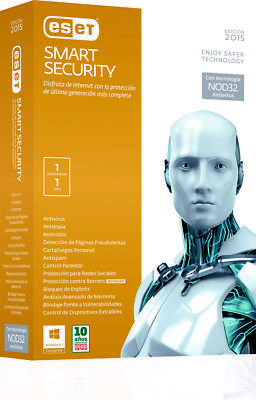 Eset Smart Security 2017 V10 1 PC / User - 2 Year! WINDOWS AND MAC