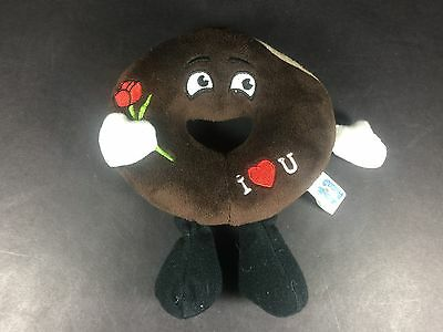 SUPER RARE Entenmann's Valetines Day I Love You Chocolate Donut Doughnut Plush!
