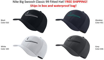 SHIPS IN BOX! Nike Golf TOUR HAT Swoosh Cap Classic 99 FITTED HAT FREE SHIPPING!