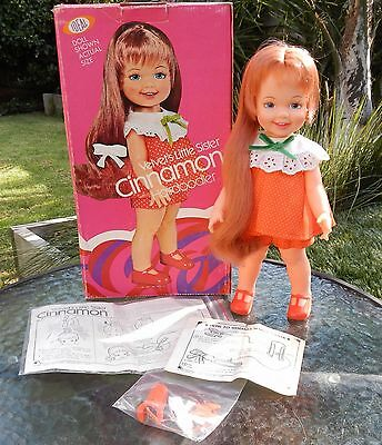 Vintage Ideal Crissy CINNAMON Doll with Box HAIRDOODLER & Instructions