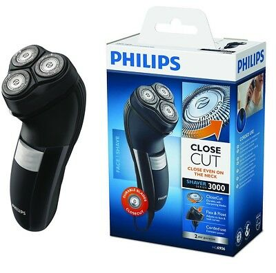 Philips Mens Corded Electric Shaver Dry Shave Face Shaving Beard Razor Grooming