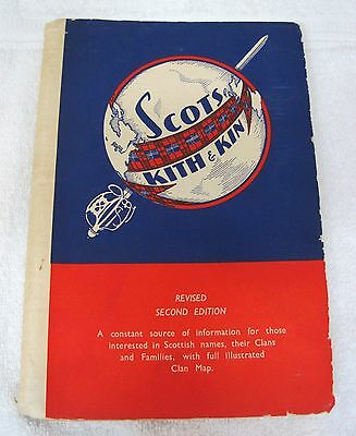 Vintage Scottish Scott's Kith & Kin 2nd Edition Color Map Book T31