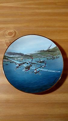 P-38F Lightning Plate Hamilton Collection Great Fighter Planes