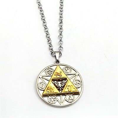Game The Legend of Zelda Link Metal Pendant Necklace Chain Cosplay Charm