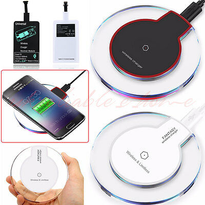 Qi Wireless Charger Charging Pad Receiver For iPhone 7 8 Plus Samsung S8 Plus AU