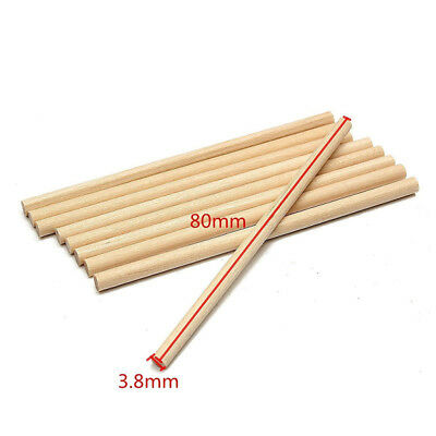 100pieces 80mm Round Wooden Lollipop Lolly  Cake Dowels For DIY Food Crafts