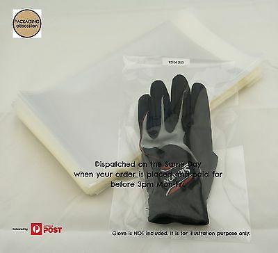 Clear Poly OPP Plastic Bags Self Seal Adhesive Cellophane Bags 15cmX25cm 100pcs