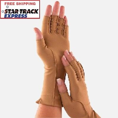 ISOTONER Therapeutic Open-Finger Gloves (PAIR) - Ease Arthritis Swelling & Pain