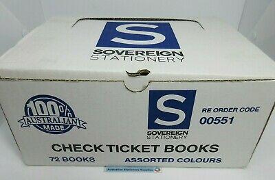 6 x Sovereign GNS Raffle Check Ticket Books 100/Leaf 00551*.free postage
