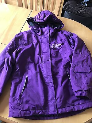 Girls Purple Coat Height 146/152 Approx 4ft 8""
