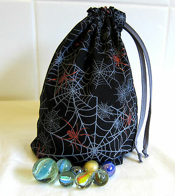 Drawstring Marbles Bag Small Toy Storage Bags Gift Bag Spider Web