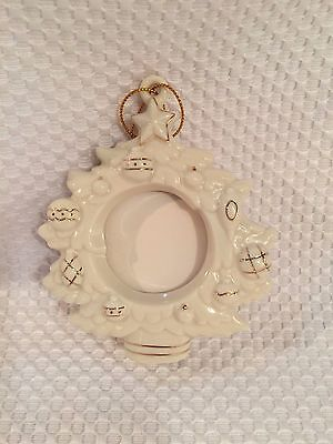 LENOX Christmas Tree Shaped Picture Frame Ornament Porcelain Holiday NEW No Box