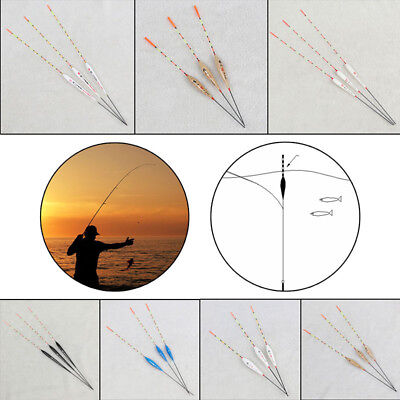 3 Pieces Pole Float Set Assorted Course Carp Fishing Tackle Bobber Floats Box