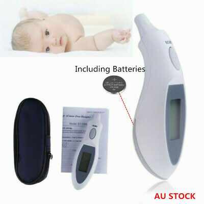 Digital Infrared Ear Thermometer Probe Cover Free Design + Case for Baby Adults