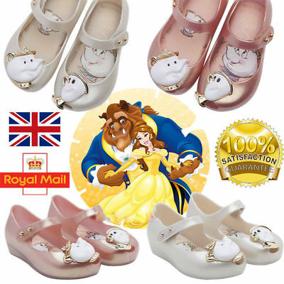 Beauty and the Beast Girl Shoes Cartoon Kids Summer Jelly Sandals Potts Chip Cos