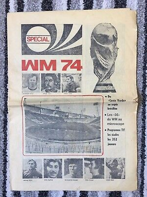 1974 Fifa World Cup Tournament Newspaper Style Programme Wm 1974 Germany