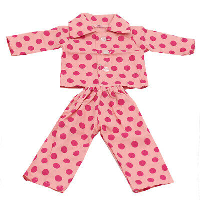 "Dot Printed Pajamas Set for American/Our Generation/Journey Girl 18"" Doll"