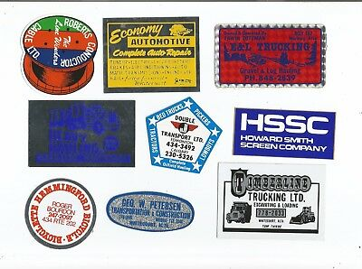 Lot Of Vintage Oil Field Stickers Very Old