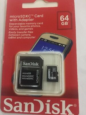 Micro Sd Sandisk 64 Gb Class 10 Memory