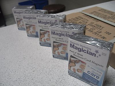 200 Self Adhesive Peel and Stick Business Card Promotional Magnets