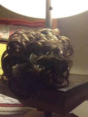 Irish dance bun wig brown medium