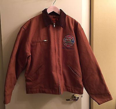 ☀North Las Vegas Nevada Firefighter Turnout Parka Coat EMT Jacket Mens L☀