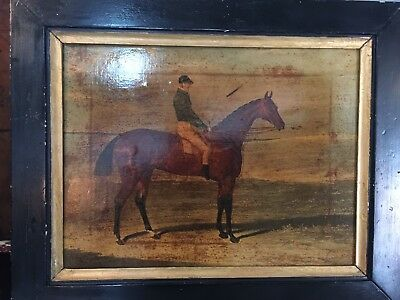 A Pair Of Oilograph Prints Circa 1830 Of Race Horses