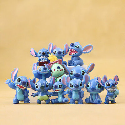 12x Lilo & Stitch Action Figures Collection Set Kid Toy Halloween Birthday Gift